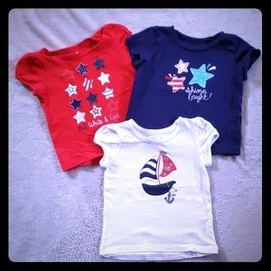 Jumping Beans 12 Month Red, White & Blue 3-pack